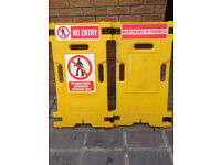 2 durable plastic no entry signs Health and Safety