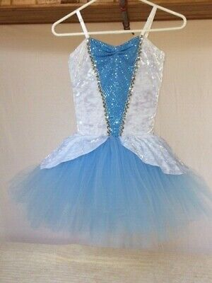 White Adult Tutus (Light Blue & White Adult Ballet Short)