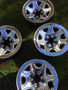 17 Inch Stock Chrome Rims From 2016 Chevy