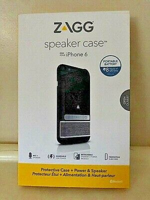 New Zagg Speaker case for i phone 6/6S -Black