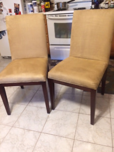 Microfibre dining chairs (2)