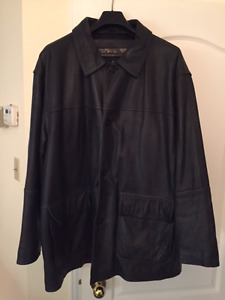 TIMBERLAND manteau en cuir/ Leather Jacket - XL - $150 (Nego)