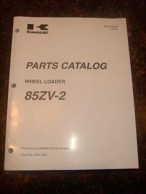 Kawasaki 85zv-2 Wheel Loader Parts Catalog Manual