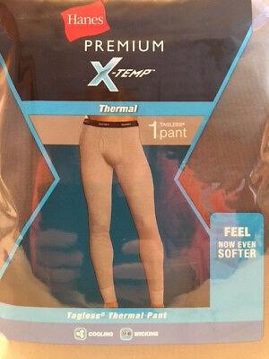 HANES Mens Premium X-Temp Thermal Pants Black, Cooling, Wicking, ~ Sizes M-2XL
