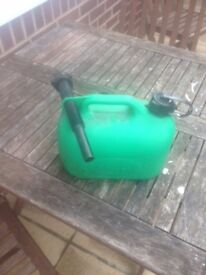 Small Plastic Petrol Can with attachment