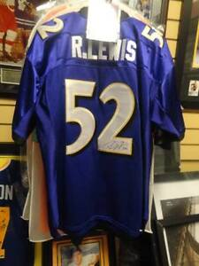 RAY LEWIS Autographed On Field Type Jersey Baltimore Ravens