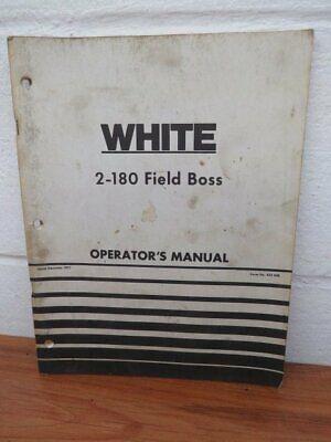 White 2-180 Field Boss Operators Manual