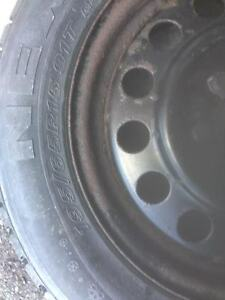 195/65/15 set of 4 winter tires with rims