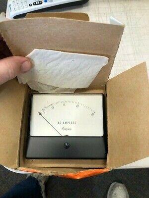 Vintage Simpson Meter Gauge Model 1359 0-25 Ac Volts New Old Stock