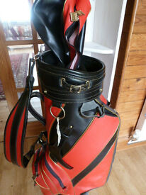 WILSON GOLF CLUB BAG (Black and Red) 3 Section with Cover