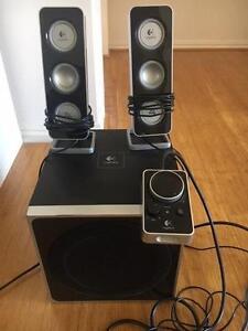 Logitech Z-4 computer speakers Landsdale Wanneroo Area Preview