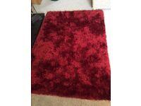 Deep Red Rug - size 120cmx170cm