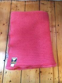 """Vintage Cellular Wool """"Moderna"""" Blanket"""