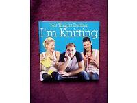 """NOT TONIGHT DARLING I'M KNITTING"" by BETSY HOSEGOOD - NEW/UNUSED"