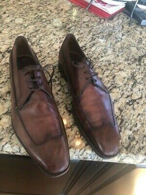 SILVANO SASSETTI BROWN LEATHER MADE IN ITALY SHOES US 9.5 M