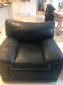 Comfy Leather Arm Chairs, Lazy Boy Style (2 available)