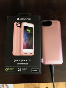 Mophie Juice Pack  Charging Cell  Case -IPhone 7 Rose Gold