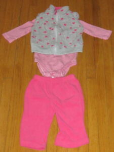 CARTERS 3 PCE  BABY 6MTH