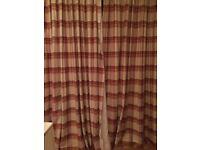 Beautiful cranberry plaid curtains