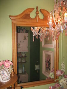 REDUCED TODAY! VINTAGE ROXTON PEDIMENT TOP MIRROR, MINT