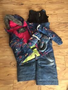 Jupa snow pants, jacket and gloves for 6-7 years old