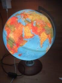 Illuminated Globe Light - 16 inches high