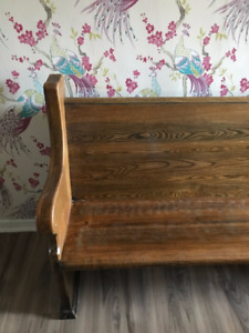 SOLID OAK CHURCH PEW FOR SALE