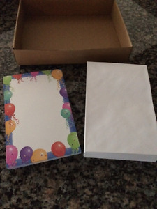 Having a Party?  BRAND NEW - 70 Cardstock Cards w. Envelopes