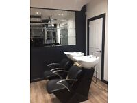 Hairdresser / barber chair, beauty room & makeup artist chair to rent. Brand new paisley salon