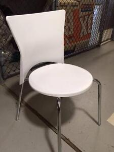 Stylish plastic white chairs Milsons Point North Sydney Area Preview