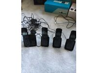 Set of 4 Philips CD 1754B/05 Home phones with answering machine. Used but in good condition