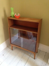 1970s Nathan teak part glazed bookcase cabinet, danish looking