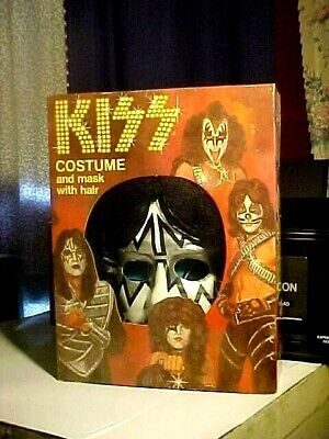 NEVER USED Vintage 1978 Collegeville Kiss ACE FREHLEY Halloween Costume In BOX