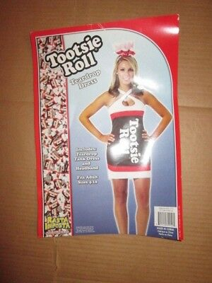Tootsie Roll Halloween Costume (Womens TOOTSIE ROLL CANDY sexy Halloween Costume sz 4 - 10)