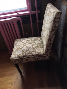 antique low seat height chair