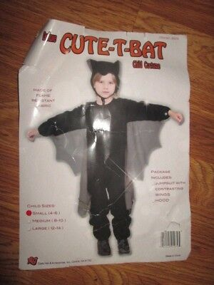 Boys BAT muscle chest Halloween Costume S Sm 4 - 6