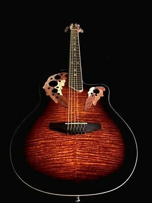 NEW 6 STRING ROUND BACK ACOUSTIC ELECTRIC GUITAR W/ EQ
