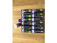 brand new tennis balls. 16 sixteen airtight tins of brand new slazenger wimbledon tennis balls