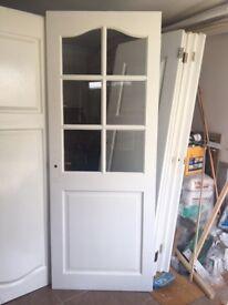 8 x Doors and 2 x Glass Panel Doors, all Matching Internal Standard Doors with Various Dimensions