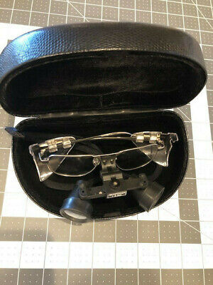 Sheer Vision 2.5xx Loupe Glasses W Case Excellent Condition