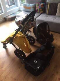 Bugaboo cameleon + footmuff + sunshade cover plus accessories and Maxi Cosi Pebble plus car seat