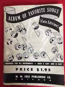 Album of Favorite Songs Cole Ed1936 Music Book All Instruments