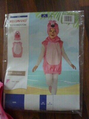 Kinder Plüsch Flamingo Mädchen Partykostüm Karneval Gr. 98/110 +NEU+