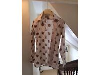 Mens Small 70's Style Vintage Patterned Shirt