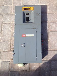 FEDERAL PACIFIC 100 amp panel with breakers included