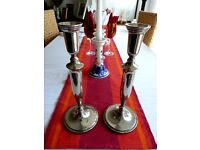 Silver Candlesticks /Candleholders