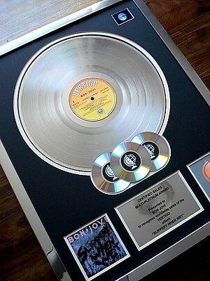 BON JOVI SLIPPERY WHEN WET LP MULTI PLATINUM DISC RECORD AWARD ALBUM