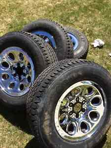 17 Inch chev Chrome Rims and Tires