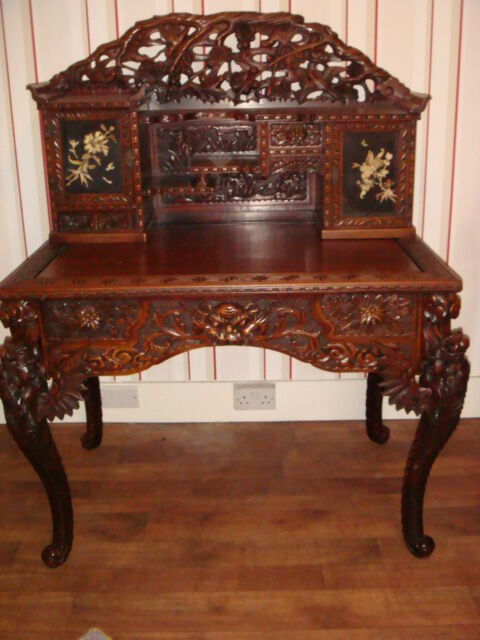Antique Chinese Dragon Desk