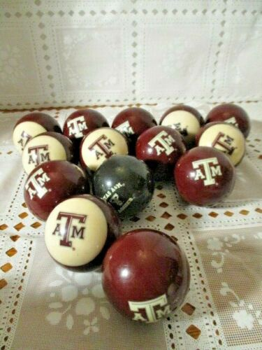 A&M Billiard/Pool Balls Preowned  Frenzy Sports Collectibles one stripe missing